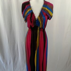 Women elegant evening long length dress size L